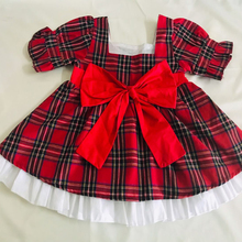 Casual Girls Plaid Print Dress Square Collar Kids Dress Girls 6 years Short Sleeve Summer Dresses Princess Vestidos with bow D30 лир клещ