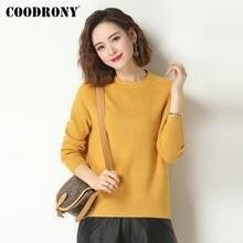 Coodrony/брендовый Повседневный теплый пуловер с круглым вырезом