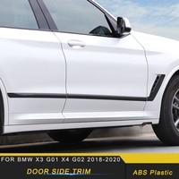 Car Accessories Door Side Chrome Pad Cover Frame Sticker Trim Protector Exterior Decoration for BMW X3 G01 X4 G02 2018 2019 2020