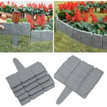 Garden Fence Edging Cobbled Stone Effect DIY Plastic Lawn Edging Plant Border Decorative Garden Landscapes(China)