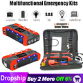 20000mAh 12V LCD4 USB Power Bank Jump Starter Auto Oplader Voor Auto Batterij Booster Buster Auto Starter Emergency uitgangspunt Apparaat
