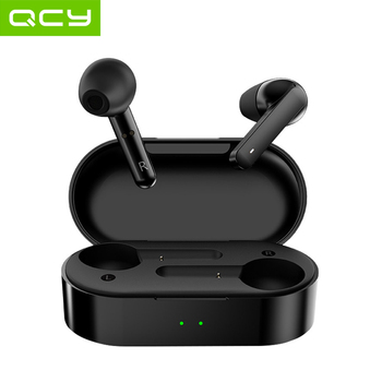 QCY T3 TWS Fingerprint Touch Wireless Headphones Bluetooth V5.0 3D Stereo Dual-Mic Noise cancelling earphones