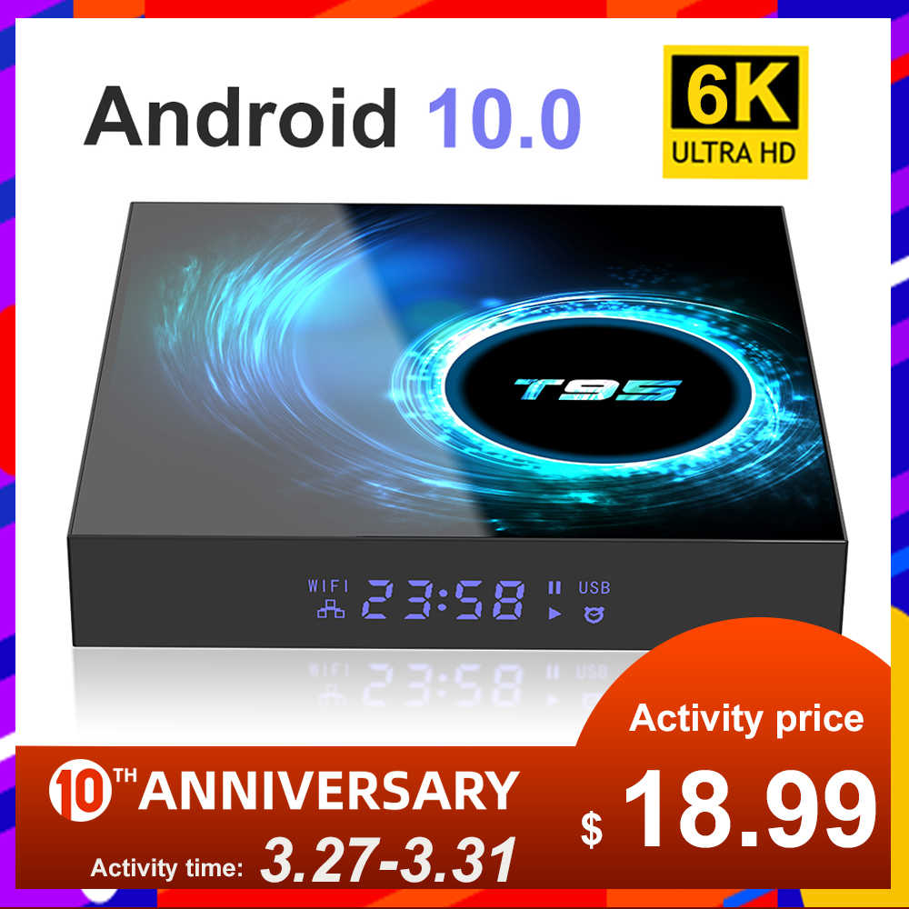 2020 Baru TV Box Android 10.0 Netflix YouTube HD 6K Android TV BOX Google Voice Assistant Lemado Smart TV kotak 9 Dukungan Spanyol