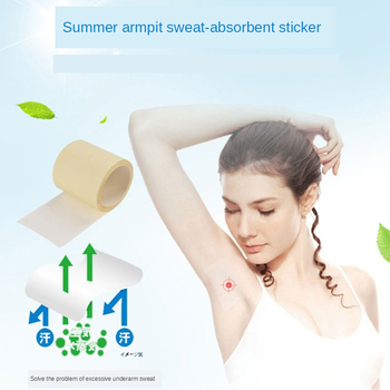 1 Roll Disposable Armpit Prevent Sweat Pads Underarm Dry Transparent Dry Antiperspirant Sticker Keep Dry Sticker