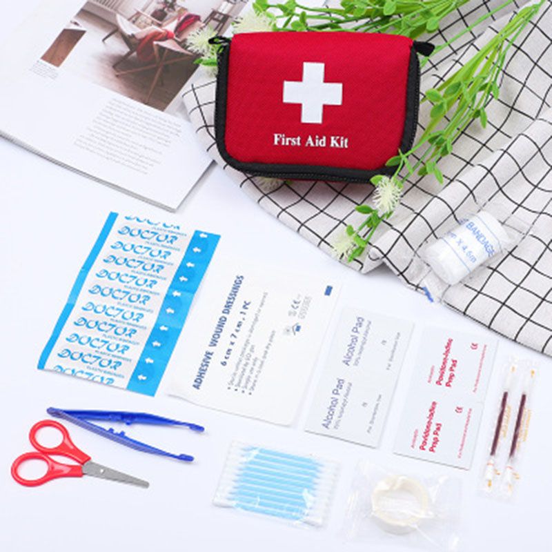 11-piece Portable Travel First Aid Kit Outdoor Camping Emergency Medical Bag Bandage Band-aid Survival Kit