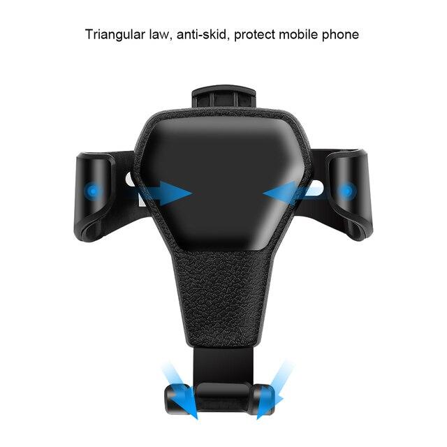 Support de smartphone de voiture de gravité dans le bâti dagrafe dévent de voiture aucun Support de Support pour téléphone portable magnétique pour le téléphone