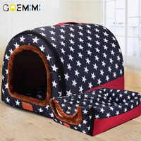 Neue Warme Hund Haus Komfortable Druck Sterne Zwinger Matte Für Pet Welpen Top Qualität Faltbare Katze Schlafen Bett cama para cachorro