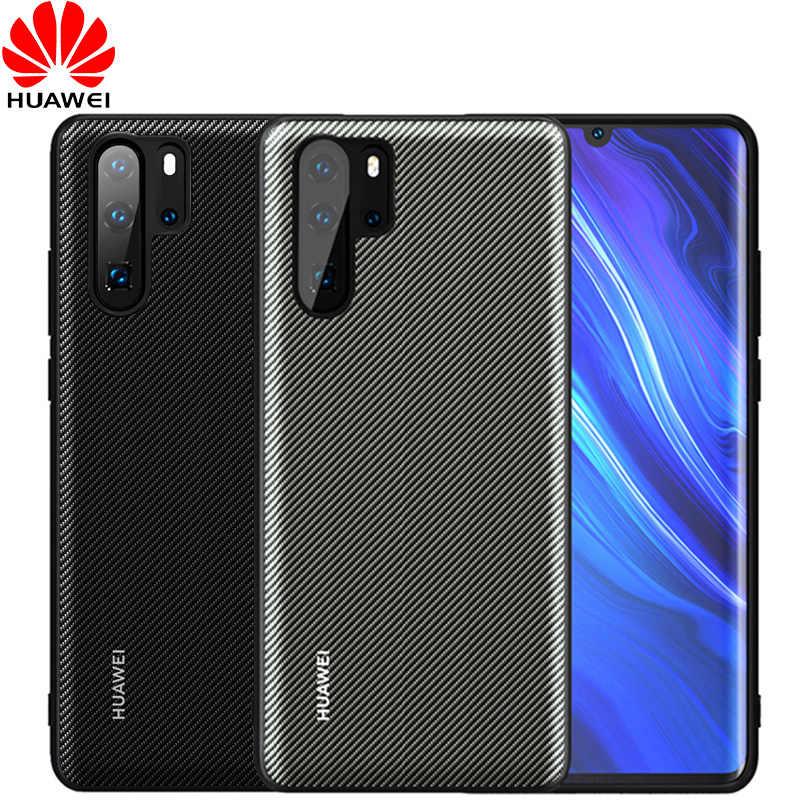 Huawei P30 Pro Ốp Lưng Chính Thức Ban Đầu Nắp Lưng Da P30 P20 Lite Funda Carcasa Huawei P20 PRO Bảo Vệ Điện Thoại CapA ốp Lưng