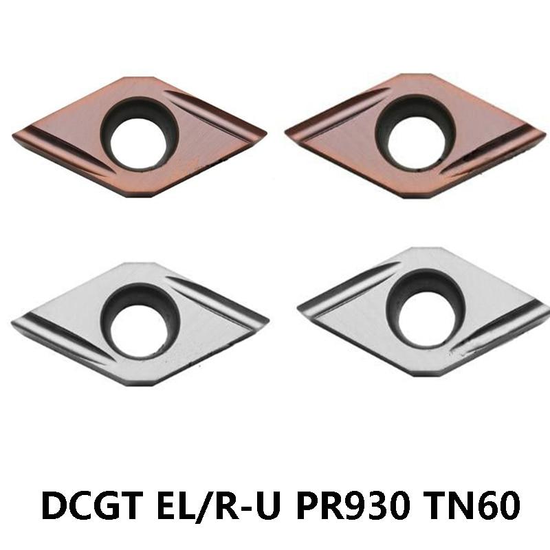 DCGT070202EL DCGT070202ER DCGT070204EL DCGT11T301ER DCGT11T302EL DCGT11T304EL DCGT11T304ER-U PR930 TN60 TT530 Carbide Inserts