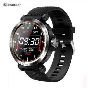 Image 2 - SENBONO S18 spor IP68 su geçirmez akıllı saat ekran dokunmatik erkekler saat nabız monitörü Smartwatch spor izci bilezik