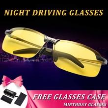 Желтые линзы Ночное видение очки мужчин водителей антибликовым покрытием поляризационные очки ночного вождения очки