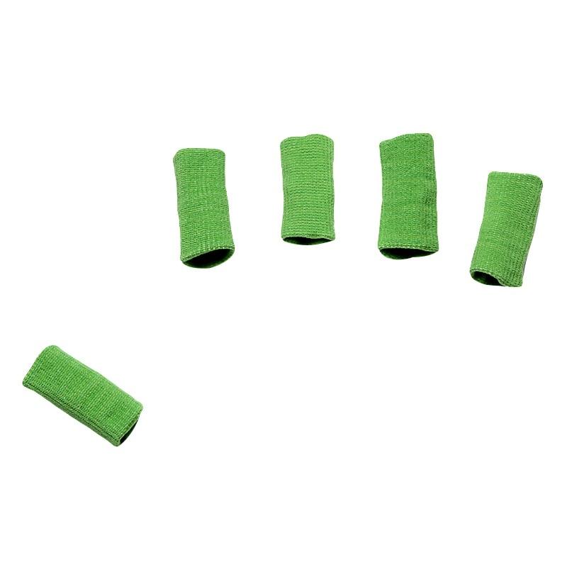 5 шт., спортивные защитные ленты для пальцев, защита для пальцев, повязка на палец, баскетбольный волейбол, бадминтон, повязка на палец - Цвет: Зеленый