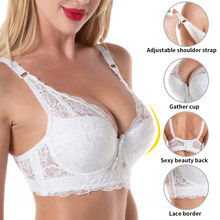 Soutien-gorge en dentelle grande taille sexy, haut court, bonnet push up, sans bretelles, lingerie pour femmes