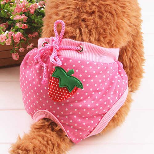 Novedad en ropa interior de pañal a rayas, pantalón corto sanitario bonito para mascotas, perros y cachorros