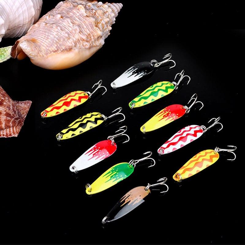 Fishing Lure Fish Hook Bait Tackle Spoon 5cm Lifelike Fishing Tackle Crankbait Hard Spinner Minnow Lure