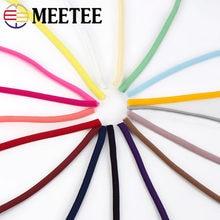 Meetee 5M 3mm/5mm poliammide corda olio nucleo elastico per orecchio appendere cinturino nastro di pizzo anello fai da te scarpe accessori decorazione