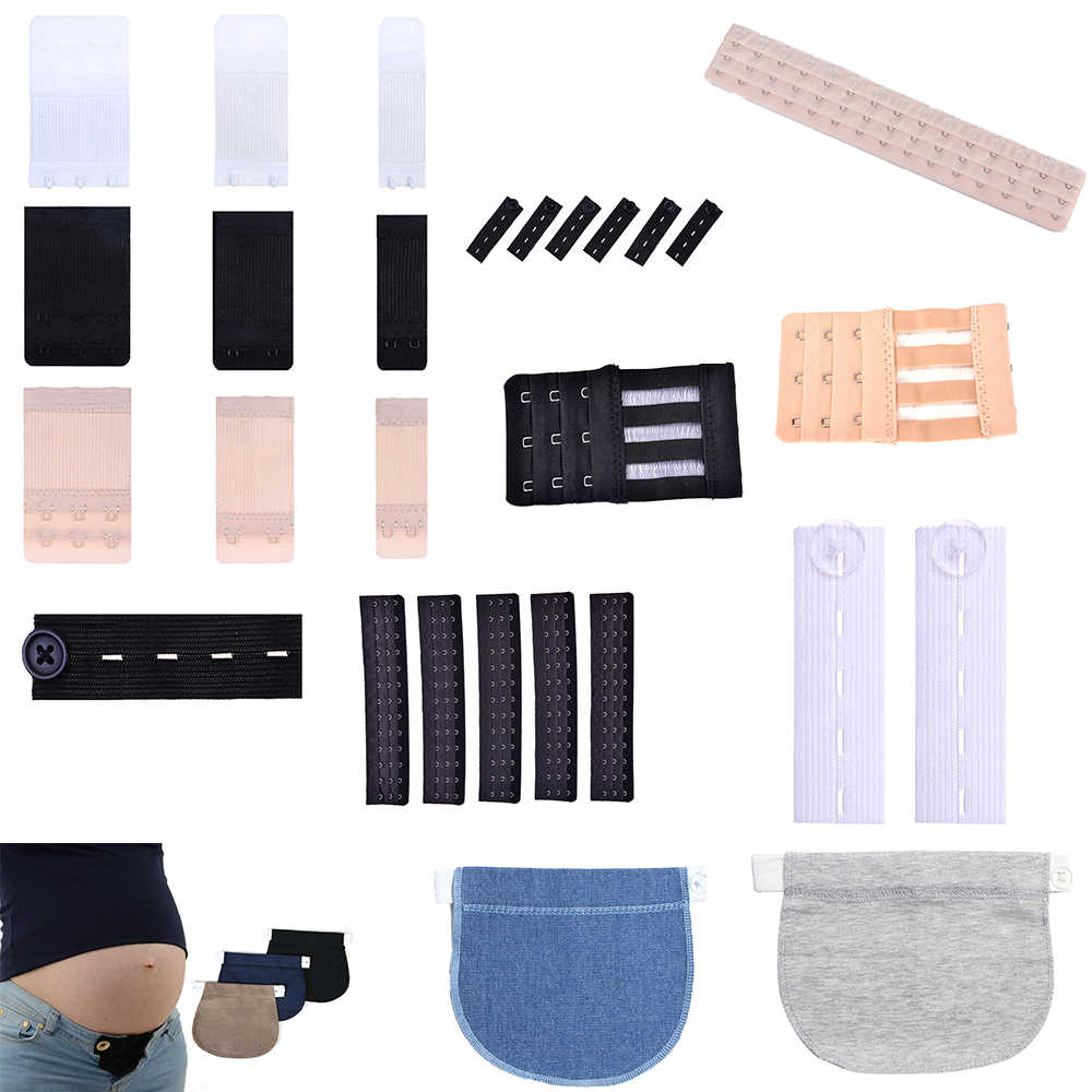 1PCS Maternity Pregnancy Waistband Belt Adjustable Elastic Pants Extended Button Clothing Pants For Pregnant Bra Extender