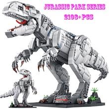 BZDA Dinosaur Toys Jurassic Park Indominus Rex Dinosaur World Building Blocks Dinosaur Skeleton Dinosaur Toy Boy Toy Kids  Gifts