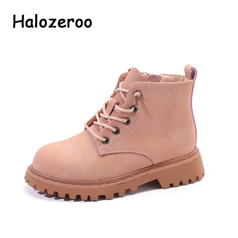 New Autumn Kids Martin Boots Baby Girls Soft Ankle Boots Children Pink Brand Shoes Boys Casual Boots Warm Genuine Leather Boots