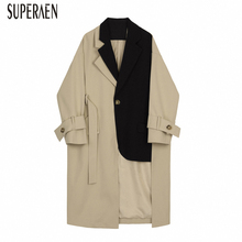 SuperAen Europe Fashion Windbreaker Women 2020 Spring New Wild Trench Coat for W