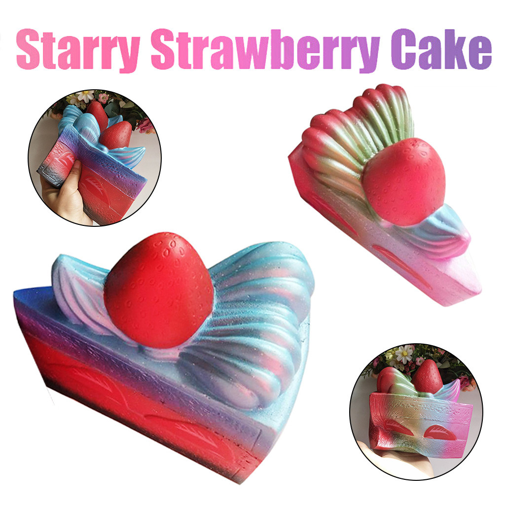 Pearly Triangles Strawberry Cake Soft Squeezeable Toy 15cm Starry Strawberry Cake Cream Scented Slow Rising  Toys Charm L106