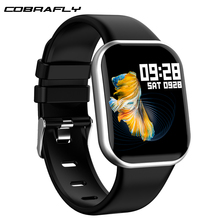 Cobrafly X16 Smart Watch Full Screen Touch Heart Rate Blood Pressure Monitor IP67 Waterproof Fitness Trakcer Clock PK B57 P68