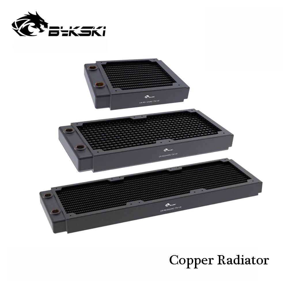 Медный Охлаждающий радиатор для ПК Bykski G1/4 дюйма, Водяной охладитель для вентилятора 120 м, 12 см, теплоотвод для компьютера, толщина 30 мм, 120/240/360...