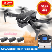 4K Camera HD wide-angle WIFI FPV RC Drone GPS Positon Optical Flow Follow 1.8KM Distance RC Quadcopter Brushless Aircrafts Gifts
