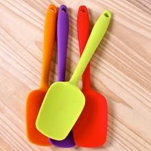 Горячая универсальная термостойкая интегрированная ручка Силиконовая ложка лопатка-скребок мороженое торт кухонный инструмент посуда L1 PGM