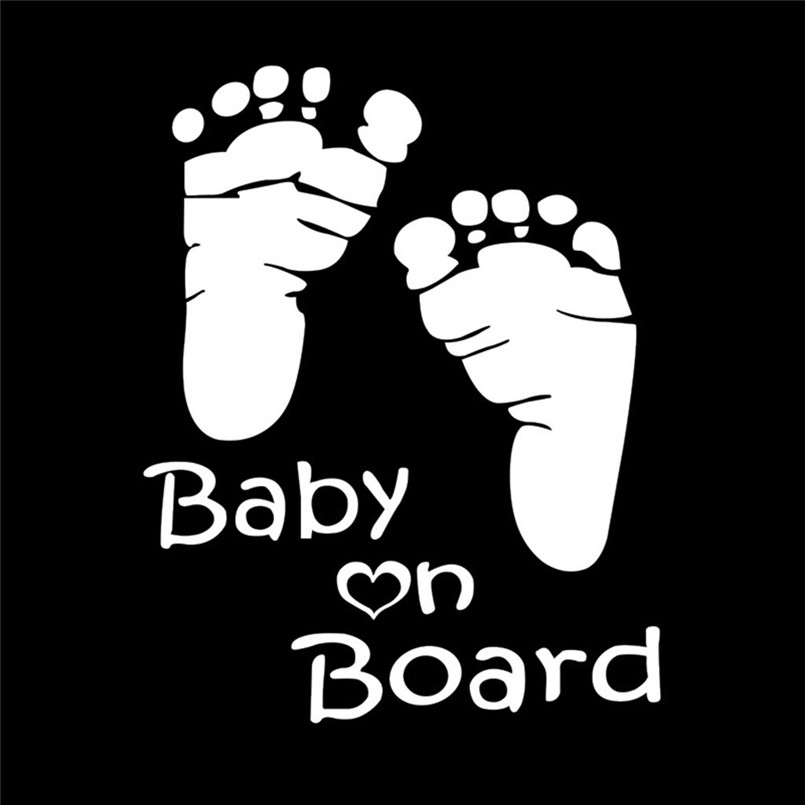 Quality Baby On Board Vinyl Car Graphics Window Vehicle Sticker Decal Decor Auto Funny Stickers 30Ag13 (2)