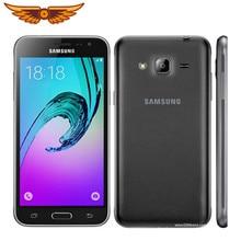 Original desbloqueado samsung galaxy j3 2016 j320f quad core 5.0 polegada 1.5gb ram 8gb rom 8mp lte usado telefone móvel