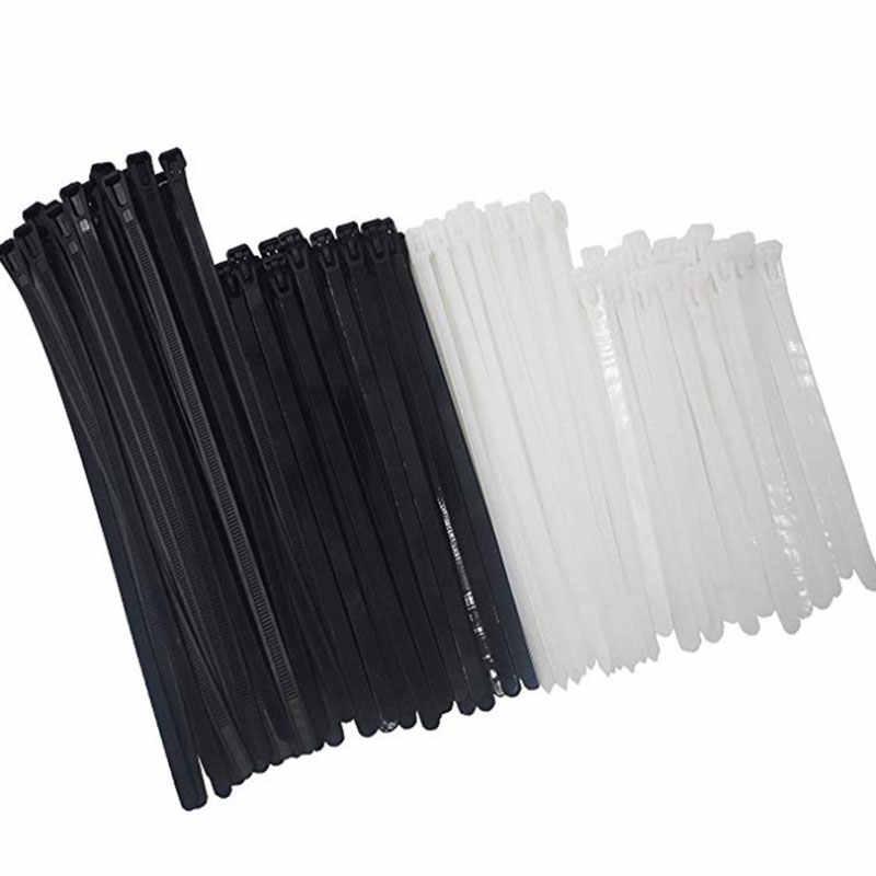 100 unid braguitas bridas cable abrazadera halogen libre 160x4,8mm negro jskb 16048-s