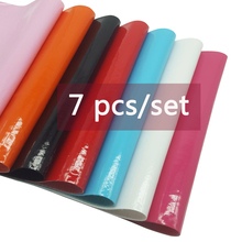 Wholesale 7pcs PU Leather Solid Faux Fabric Sheets Handmade Bags Shoes Decoration DIY Hair bow Fabric Synthetic Leather 22*30 cm t kullak scherzo