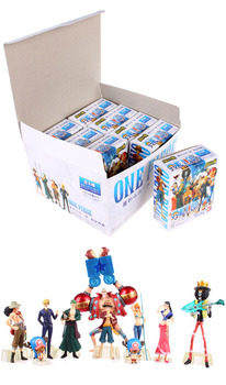 10pcs/set Anime One Piece Action Figures 2 Years Later Luffy Zoro Sanji Usopp Brook Franky Nami Robin Chopper 1