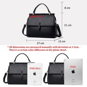 Image 5 - Brand new fashion messenger bag womens leather handbags female shoulder crossbody bags for women purple light blue red black