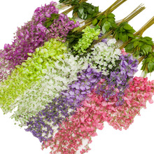 Wisteria Artificial Flowers Vine Ivy Plant Fake Tree Garland Hanging Flower for Wedding Decor Hotel Home Decorations outdoor