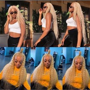 Image 5 - Facebeauty 613 цветные волосы уток блонд бразильские глубокая волна пучок 12   28 дюймов Remy человеческие волосы плетение Платина блонд 1/3/4 пучок