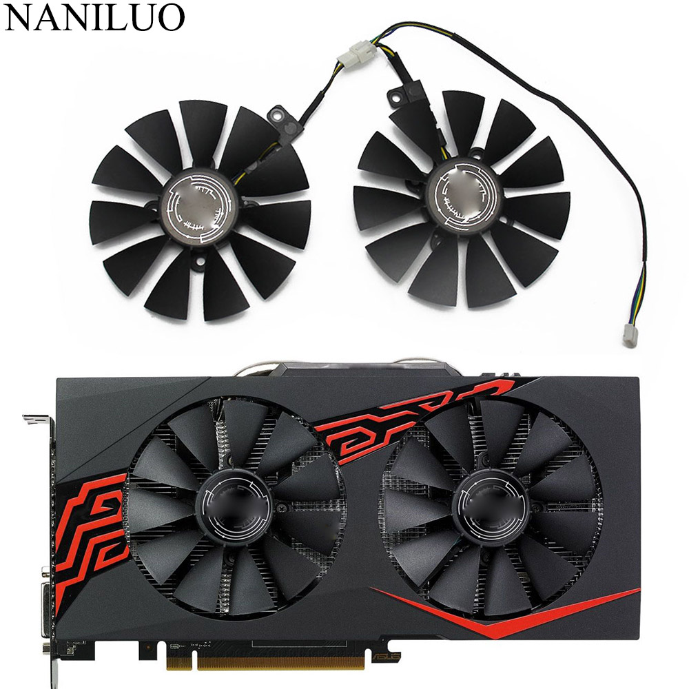 T129215SM Replacement For ASUS ROG RX470 RX570 RX580 4G Gaming Graphics Card Fan