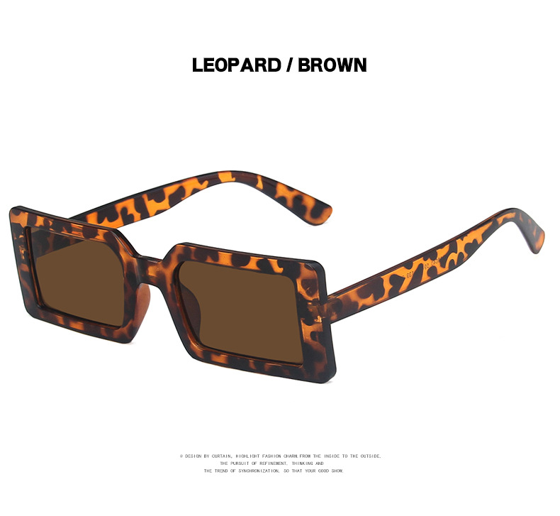 Fashion Sunglasses Designer Luxury Brand Rectangle Sunglasses Women Vintage Small 2021 trend Female Sun Glasses Shades For Women (14)