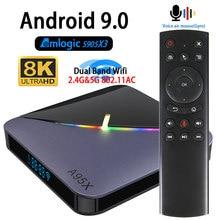 Android 9.0 caixa de tv amlogic s905x3 4 k a95x f3 8 k youtube wifi 2.4g & 5.8g 4 gb ram 64g play store iptv caixa superior