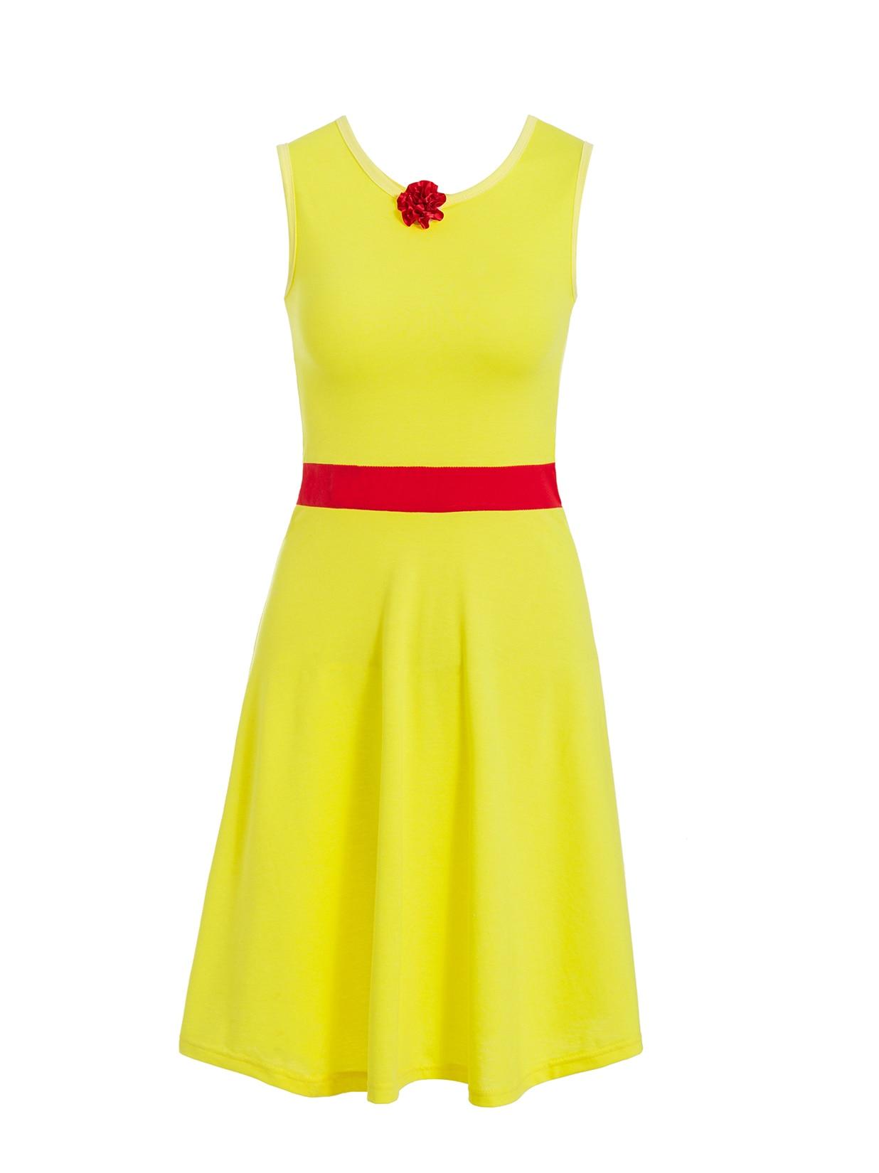 Платье принцессы для взрослых; одинаковый семейный маскарадный костюм «Минни Маус и я»; женское платье принцессы в горошек; большие размеры - Цвет: belle