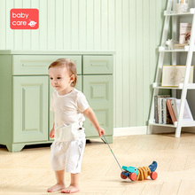 babycare Hauling Crocodile Wooden Toy 0-1 year old Baby Dinosaur Toddler Pulling Rope Trolley