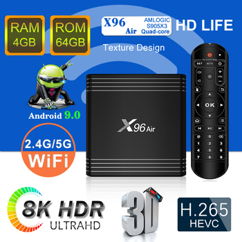 Newest X96 Air Android tv box Amlogic S905X3 4G 64G Dual Wifi 1920x1080 Hd Video Songs Download Television 8K Set Top Box X96Air
