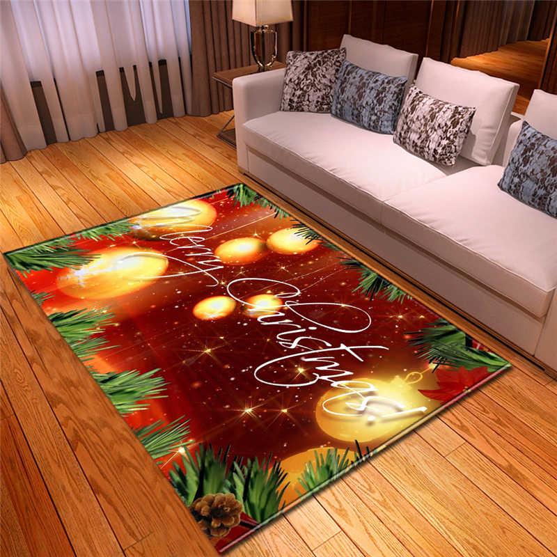 新しい装飾長方形洗える非スリップ無臭大軽量床マットクリスマスホームホテル装飾 3D 薄型カーペット