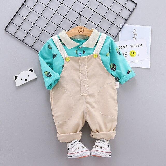 Фото весенне осенняя модная хлопковая одежда для маленьких мальчиков цена