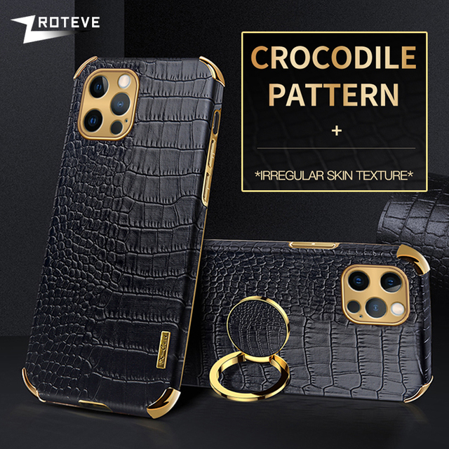 Zroteve For iPhone 12 11 Pro Max Mini Cover Crocodile Pattern Coque For Apple iPhone X S XR XS Max 8 7 6 S 6S Plus SE 2020 Cases 1