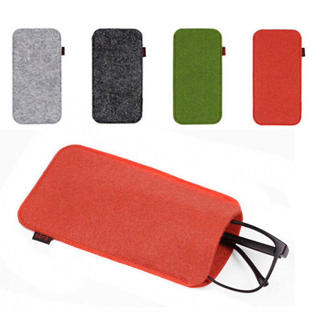 Portable  Soft Felt Sunglasses Bag Microfiber Dust Storage Glasses Carry Bag Portable Eyewear Case Container Makeup Bag