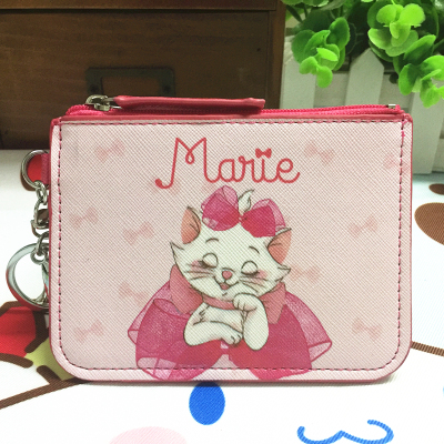 Marie Cat Anime Plush Card Holder PU Cartoon Credit ID Bags Zipper Coin Bus Card Wallet Kid Girls Gift New