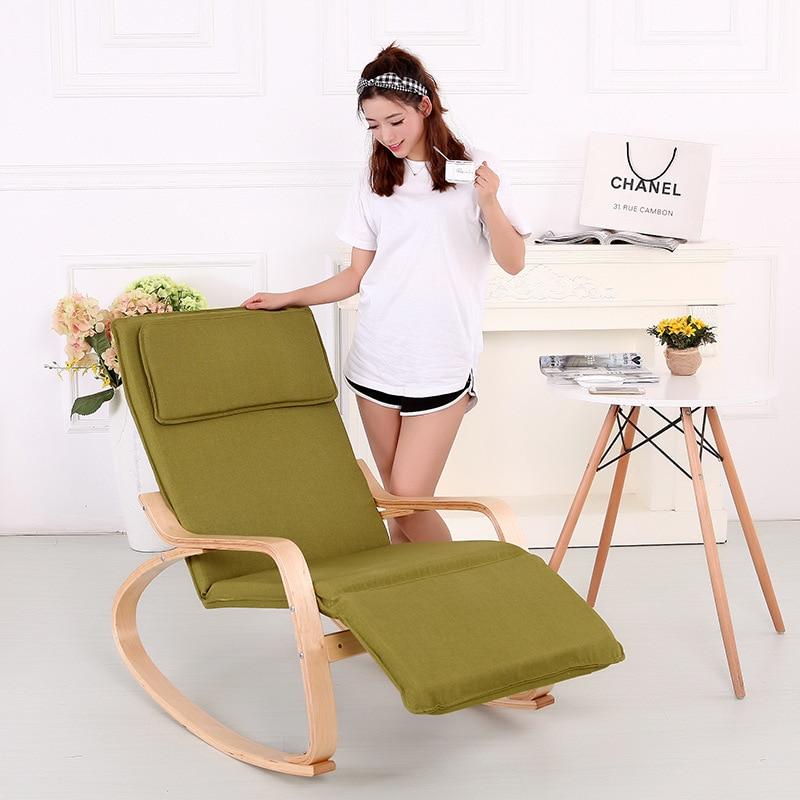 Q1-Bentwood Rocking Chair Northern European-Style Bonn Chair Rocking Chair Folding Chair Recliner Solid Wood Birch