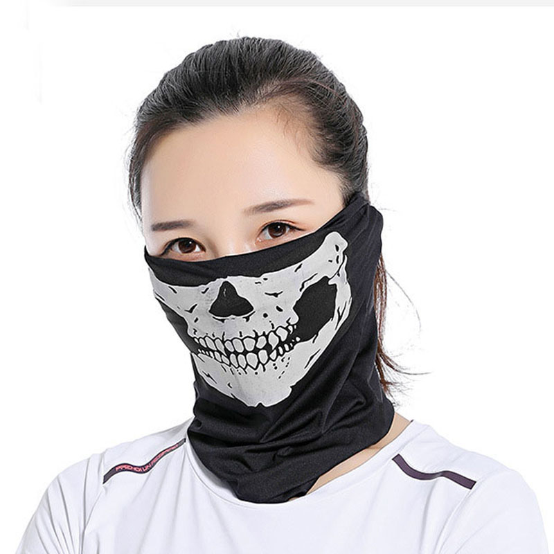 Skeleton Skull Bandana Ski Skull Cycling Ghost Scarf Neck Bandanas Ski Halloween Sport Hiking Scarves